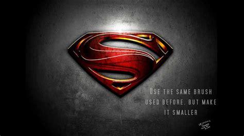 tutorial logo superman superman man of steel logo photoshop tutorial youtube
