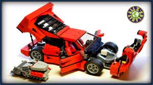 lego f40 with v8 engine stop motion review