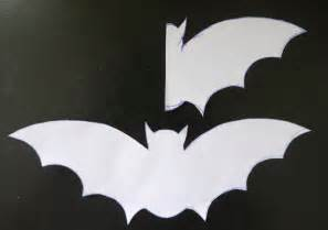 Step one make your bat template i drew a bat on white copy paper