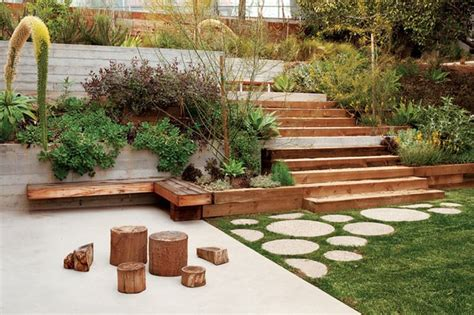 backyard steps 40 ideas of how to design exterior stairways