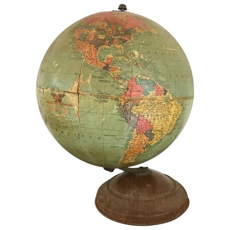 vintage replogle 10 inch globe circa 1940 for sale at 1stdibs