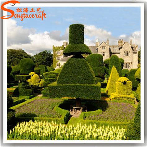 Landscape Fabric Or Plants Wholesale Cheap Price Artificial Topiary Plant Outdoor