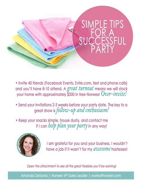 party tips let s have a great norwex show work with water