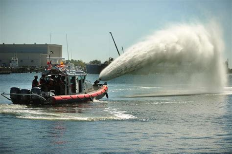 fire boat water cannon new fireboat ready for duty connecticut post