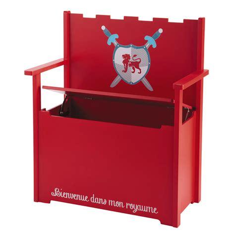 banco baul infantil banco ba 250 l infantil de madera rojo an 65 cm chevalier