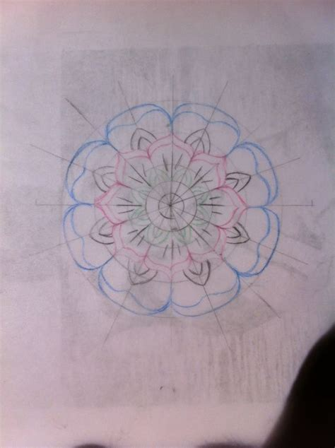 fiori traditional flower sketch neo traditional flower flash