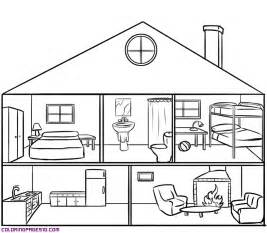 Coloring Pages  Inside House For Kids Living Room sketch template