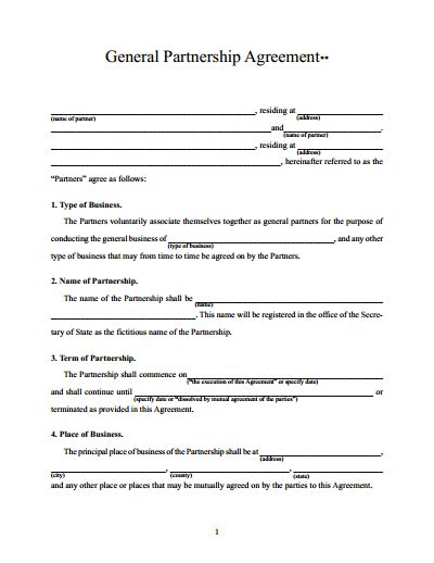 Partnership Agreement Template Free Download Create Edit Fill And Print Wondershare Pdfelement Free Partnership Agreement Template