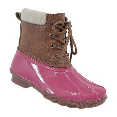 pink duck boots yoki pink duck boot