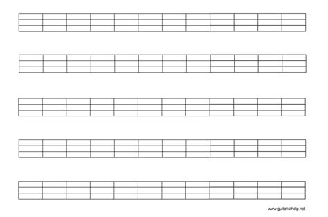 bass guitar fretboard diagram blank