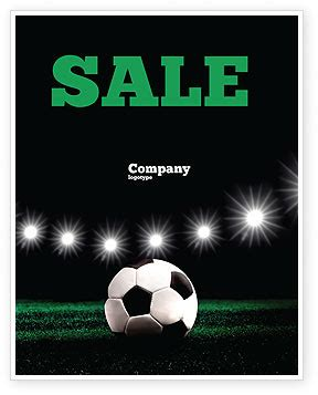 free templates for football posters football stadium in the night sale poster template in