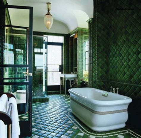 green bathrooms 36 art deco green bathroom tiles ideas and pictures