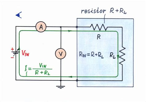two resistors are connected in series with a battery reinventing passive voltage to current converter