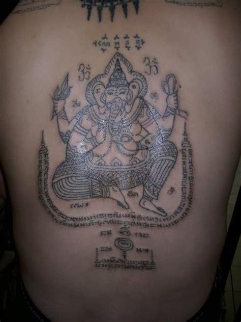 ganesh yantra tattoo sak yant thai temple tattoos yant pra pikanes
