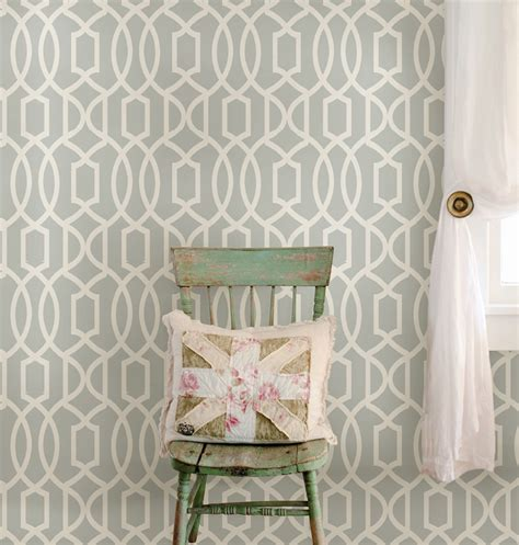 stick and peel wallpaper gray grand trellis peel and stick nuwallpaper rosenberryrooms