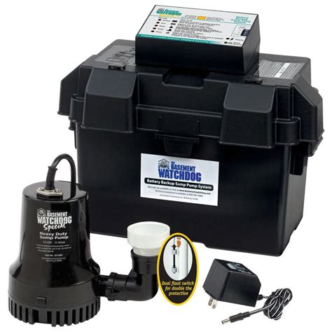 basement watchdog sump basement watchdog 0 33 hp special battery backup sump system bwsp the home depot