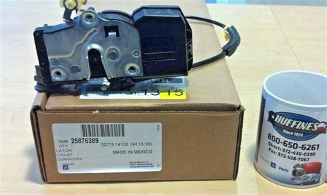 2008 tahoe right rear door lock actuator new oem lh rear door lock actuator 08 09 chevrolet tahoe