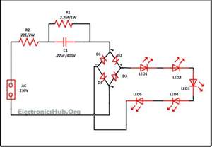 Car Led Light Circuit Diagram Mains Operated Led Light Circuit Working And Advantages