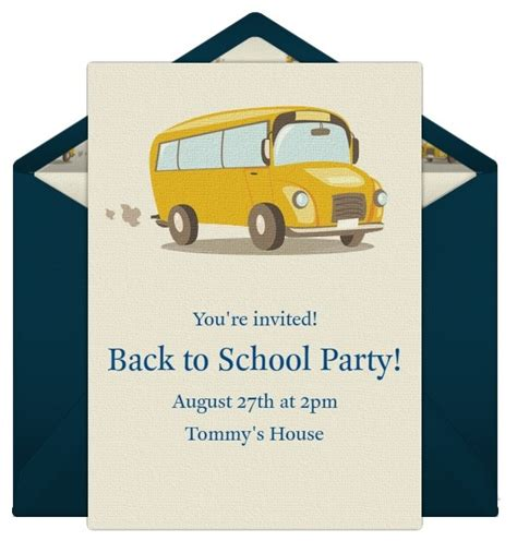 back to school card template invitations for your back to school
