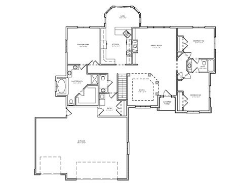 Ranch Floor Plans With 3 Bedrooms by Split Bedroom Ranch Hosue Plan 3 Bedroom Ranch House Plan