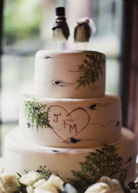 25  best ideas about Birch wedding cakes on Pinterest
