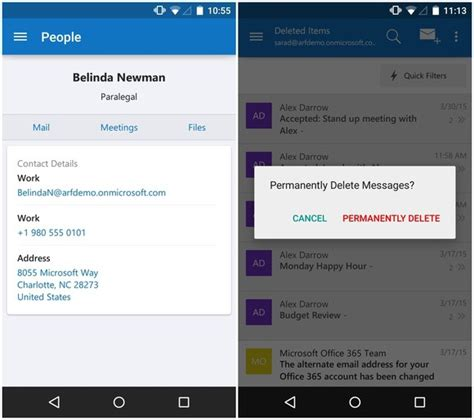 Calendar Update From Outlook Outlook For Android Ios Updated With Smarter Address Book