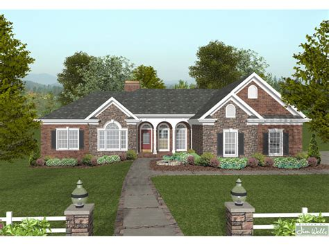 stone ranch with european flair hwbdo77256 ranch from brick and stone ranch house plans