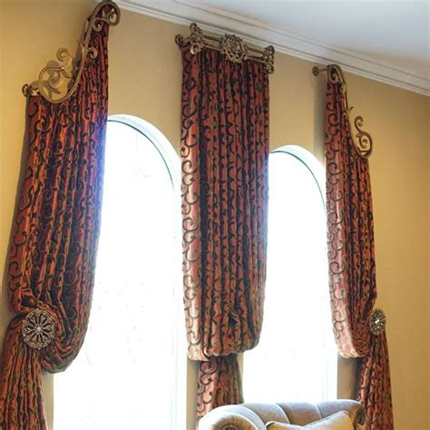 window drapery hardware drapery hardware combo with curtain panels and