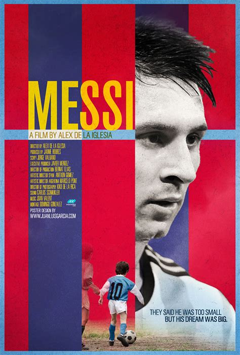 film lionel messi messi biopic documentary movie poster on behance