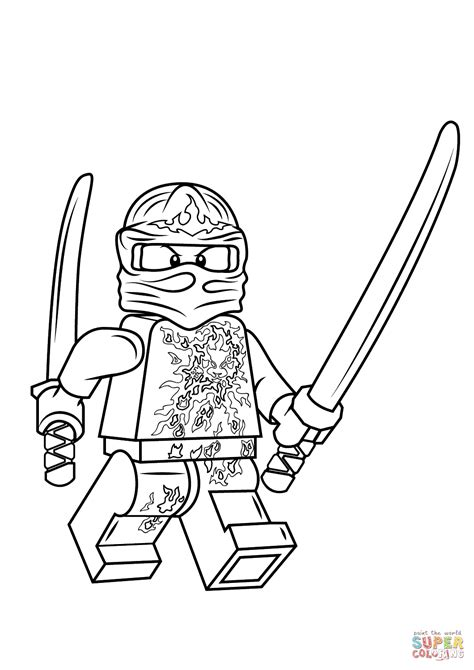 lego of ninjago kai coloring pages sketch coloring page
