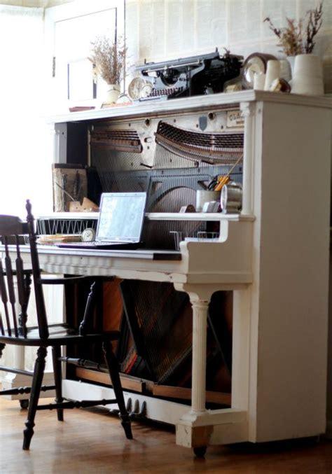 escritorios electricos turn an antique piano into an amazing desk diy