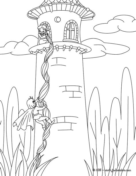 grimm tales coloring book coloriages coloriage raiponce fr hellokids