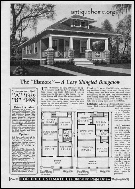 1928 Wardway Mail Order House The Elsmore Montgomery Montgomery Ward House Plans