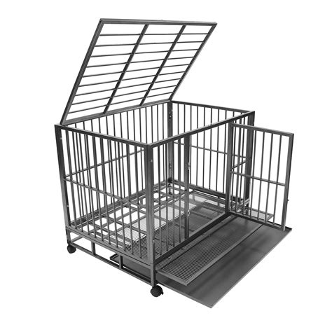 crate tray crate kennel heavy duty pet cage playpen w metal tray pan ebay