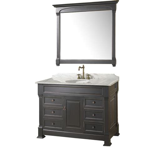Bathroom Cabinets And Vanities 48 Quot Andover 48 Black Bathroom Vanity Bathroom Vanities Bath Kitchen And Beyond
