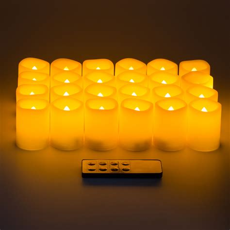 battery operated flickering lights 24x kohree led flameless flickering ivory battery