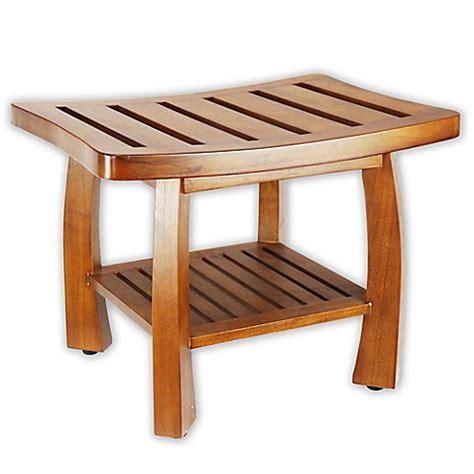 shower bench with shelf solid wood spa shower bench with storage shelf in teak