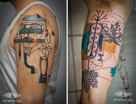 cubism tattoo surreal portraiture and cubism combine in beautiful new
