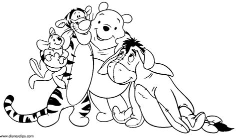 Winnie The Pooh And Friends Coloring Pages baby winnie the pooh and friends coloring pages az