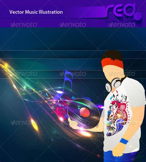 Dj Party Vector Template Design By Redshinestudio Graphicriver Dj Web Design Templates