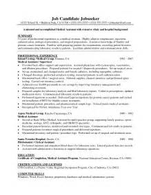 healthcare resume assistant resume