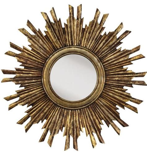 pretty in gold this wall mirror will make for the
