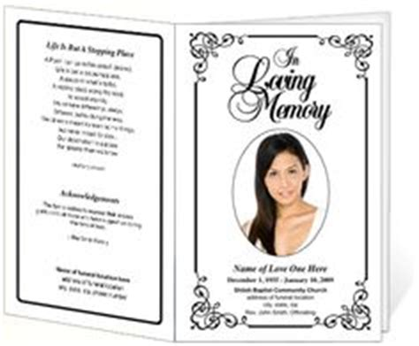 funeral bulletin template free 1000 images about creative memorials with funeral program