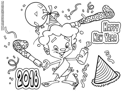 coloring page for new year 2016 disney new year 2016 coloring pages realistic coloring pages