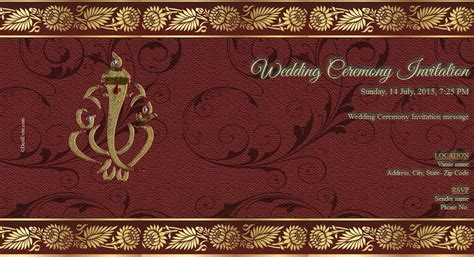 hindu wedding invitation free free wedding india invitation card invitations