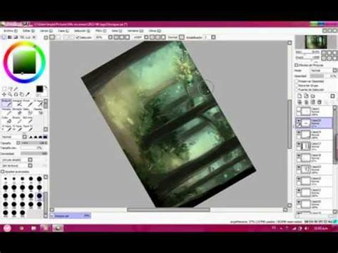 paint tool sai crackeado drawing a background with paint tool sai forest