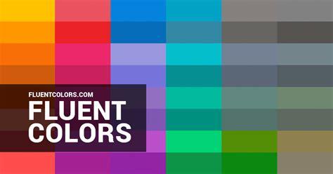 colors in fluent colors microsoft s fluent colors color palette