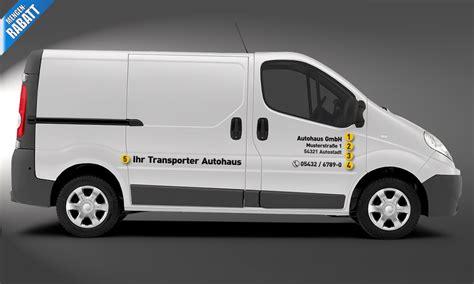 Autowerbung Heckscheibenaufkleber by Fahrzeugbeschriftung Transporter Set 4 Autobeschriftung