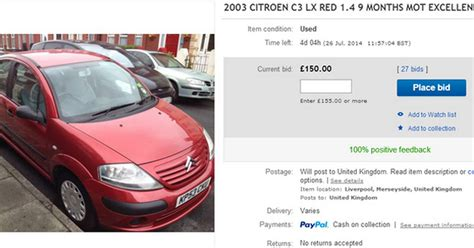 ebay used cars liverpool fan writes hilarious ebay description to sell