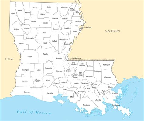 louisiana map a large detailed louisiana state county map